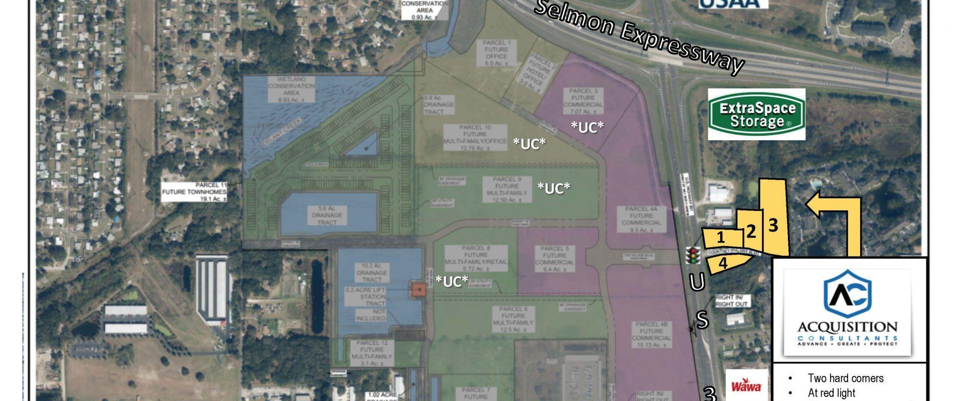 US Highway 301 (Brandon/Tampa) – 4 Retail Pads